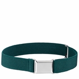 Childrens Elastic Adjustable Stretch Belt With Buckle Hunter Green