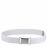 Childrens Elastic Adjustable Stretch Belt With Buckle White