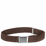 Childrens Elastic Adjustable Stretch Belt With Buckle Brown