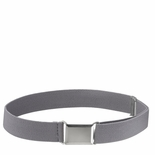 Childrens Elastic Adjustable Stretch Belt With Buckle Grey