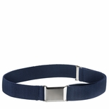 Childrens Elastic Adjustable Stretch Belt With Buckle Navy Blue