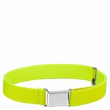 Childrens Elastic Adjustable Stretch Belt With Buckle Neon Yellow