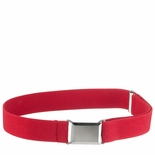 Childrens Elastic Adjustable Stretch Belt With Buckle Red