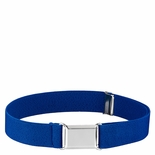 Childrens Elastic Adjustable Stretch Belt With Buckle Royal Blue