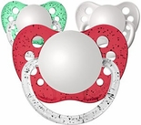 Christmas Pack Orthodontic Personalized Pacifiers
