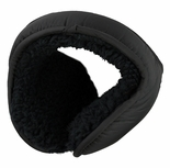 Clips N Grips Ear Warmers Unisex Polyester Adjustable Winter Earmuff Black