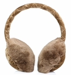 Clips N Grips Girls Ear Warmers Quilted Velvet Fur Earmuffs Camel (Beige)