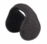 Clips N Grips Hexagon Ear Warmers Unisex Polyester Adjustable Earmuffs Black