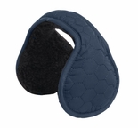 Clips N Grips Hexagon Ear Warmers Unisex Polyester Adjustable Earmuffs Navy Blue