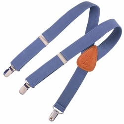 Clips N Grips Kids Suspenders Chambray Denim