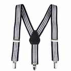 Clips N Grips Kids Suspenders Navy and White Stripe