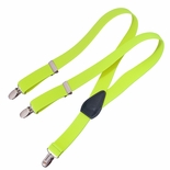 Clips N Grips Kids Suspenders Neon Yellow