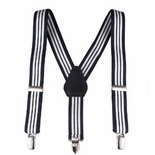 Clips N Grips Striped Suspenders