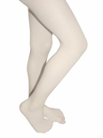 Microfiber Girls Colored Tights Linen White