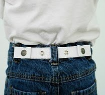 Dapper Snappers White Adjustable Belt