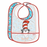 Bumkins 2 Pack Easy Wipe Bib Dr. Seuss Cat In The Hat