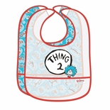 Bumkins Easy Wipe Bib Dr. Seuss Thing 2