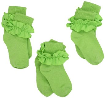 cbc8102ef8e KneesNToes.net - Jefferies Girls Ruffle Socks Lime Green