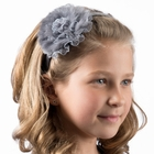 Dacee Girls Lace n Fur Flower Headband