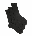 Florence Bamboo Cotton Boy's Ribbed Sock 3 Pack Black