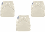 3 Pack FuzziBunz Perfect Size Diapers White