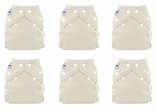 6 Pack FuzziBunz Perfect Size Diapers White