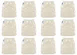 12 Pack FuzziBunz Perfect Size Diapers White