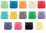 FuzziBunz One Size Elite Cloth Diapers 18 Pack