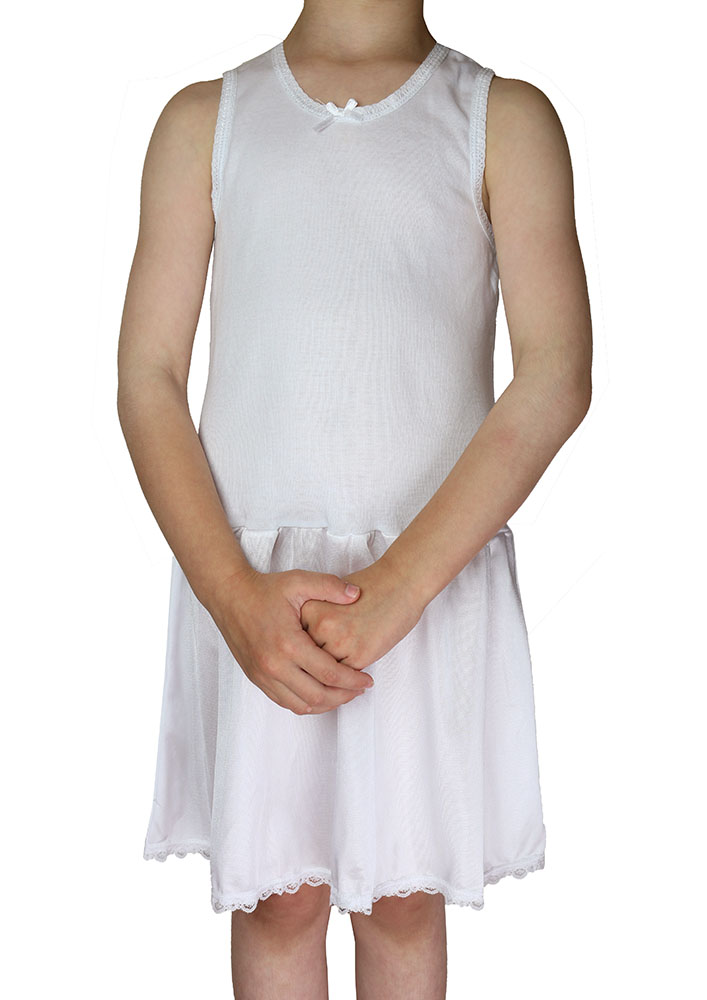 fcbcae53c41 KneesNToes.net - Girls Cotton Nylon Full Slip