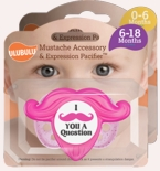 Mustache Pacifier & Accessory Pink