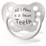 White Orthodontic Expression Pacifier  Zebra