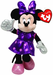 Ty Beanie Babies Minnie Purple Sparkle Plush