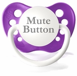 Grape Orthodontic Expression Pacifier Mute Button