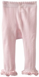 Jefferies Cotton Ruffle Footless Tights Leggings Light Pink