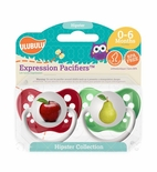 Hipster Collection Apple & Pear Pacifier