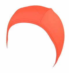 Hydrodynamic Non Resistant Lycra Swim Cap Orange