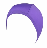 Hydrodynamic Non Resistant Lycra Swim Caps Purple