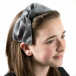 Dacee Girl's Twisted Satin Bow Headband