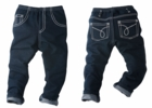 Chopstix Kids The Premiere Faux Denim for Girls With White Trimming