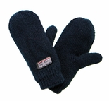 Infant Toddler Baby Mittens Black