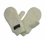 Infant Toddler Baby Mittens Ivory