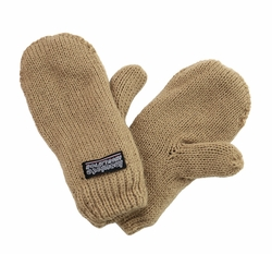 Infant Toddler Baby Mittens Khaki Camel