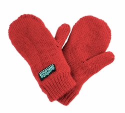 Infant Toddler Baby Mittens Red