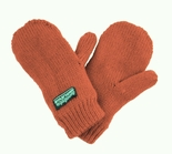Infant Toddler Baby Mittens Rust