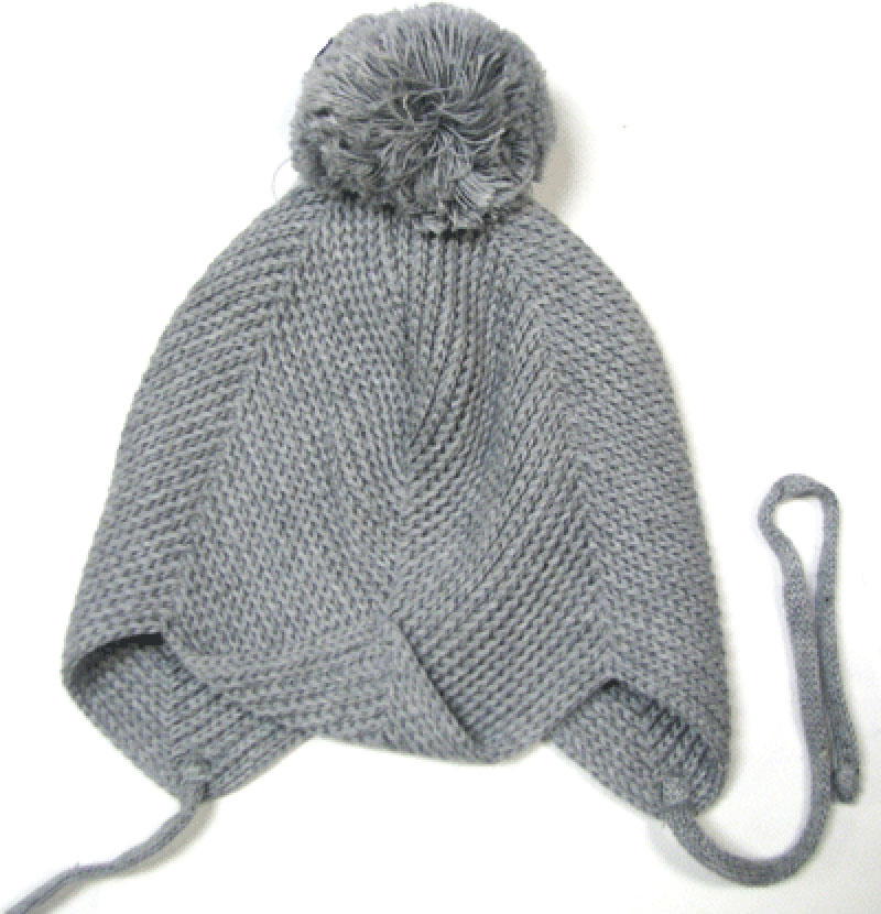 KneesNToes.net - Toddler Crochet Hat with Pom Pom Grey 6516d2f3dba
