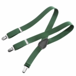 Clips N Grips Kids Suspenders Hunter Green