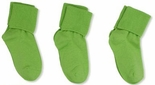 Jefferies Socks Seamless Toe Turn Cuff Sock Lime Green
