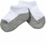 Jefferies Ankle Socks Sport Low Cut Half Cushion Seamless Sock 3 Pack White/Grey Bottom
