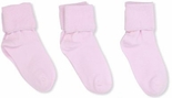 Jefferies Socks Seamless Toe Turn Cuff Sock Baby Pink