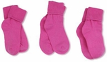 Jefferies Socks Seamless Toe Turn Cuff Sock Bubblegum Pink